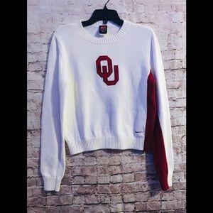 Ou Crimson & Cream Nike sweater large no flaws